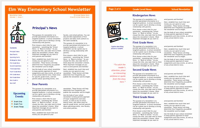 Elementary School Newsletter Template Unique 13 Free Newsletter Templates You Can Print or Email as Pdf