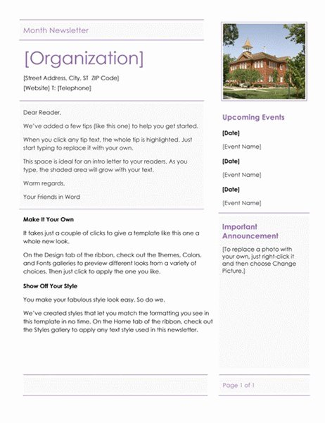 Elementary School Newsletter Template Unique Elementary School Newsletter