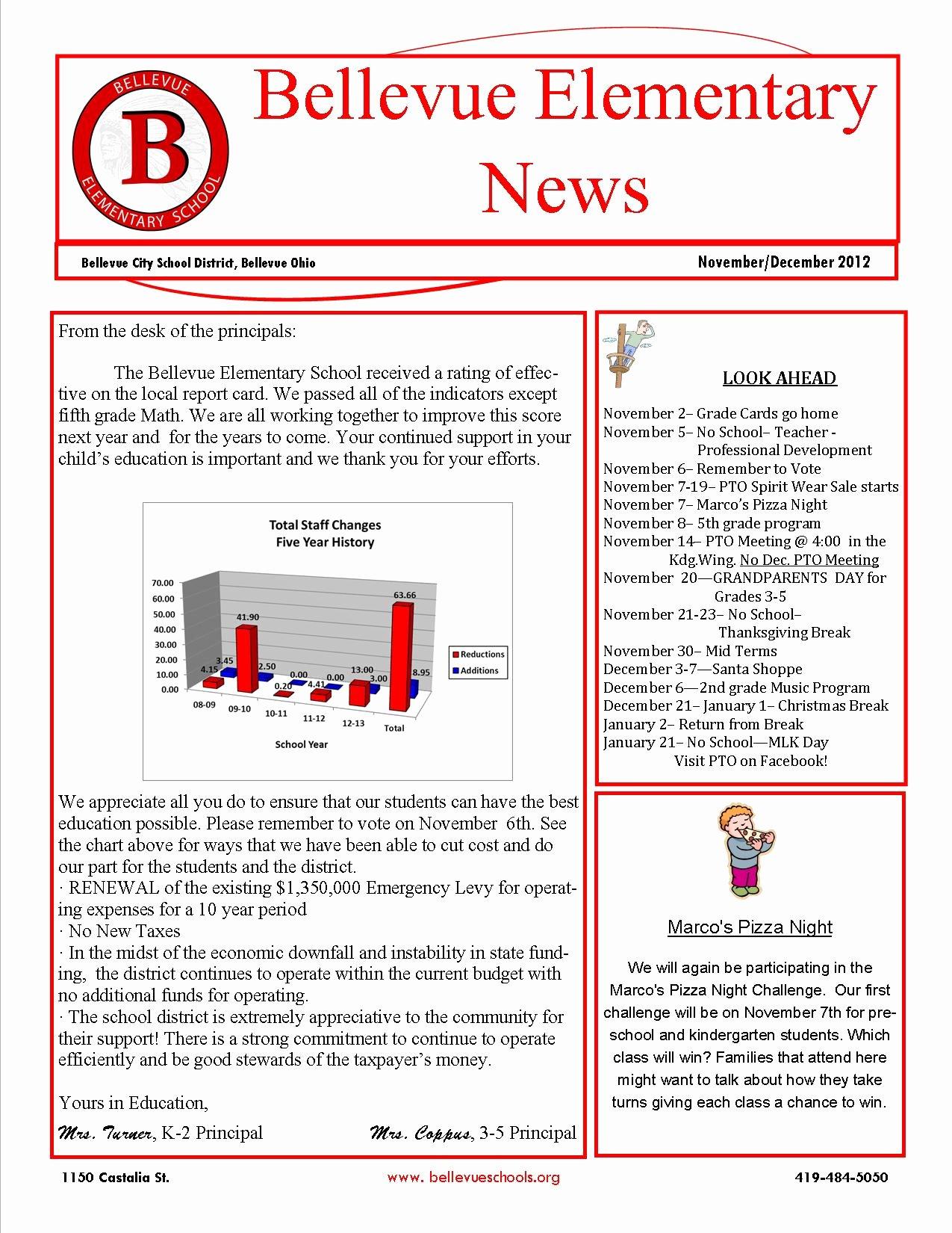 Elementary School Newsletter Template Unique Elementary School Newsletters 5th Grade Class Newsletter