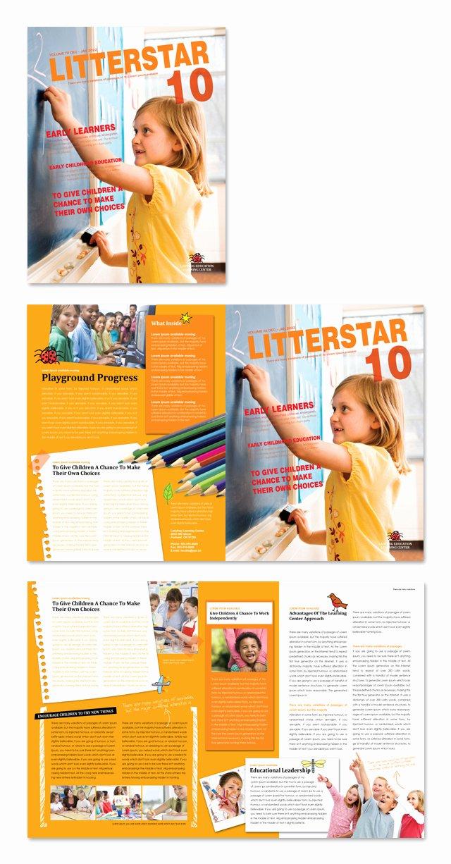 Elementary School Newsletter Template Unique Learning Center & Elementary School Newsletter Template
