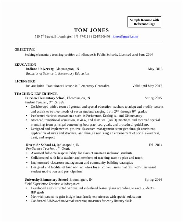 Elementary Teaching Resume Template Unique 28 Teacher Resume Templates Download