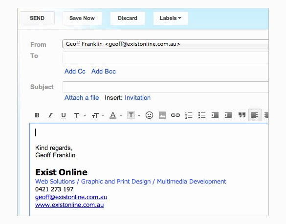 Email Template for Gmail Inspirational 29 Gmail Signature Templates – Samples Examples & format