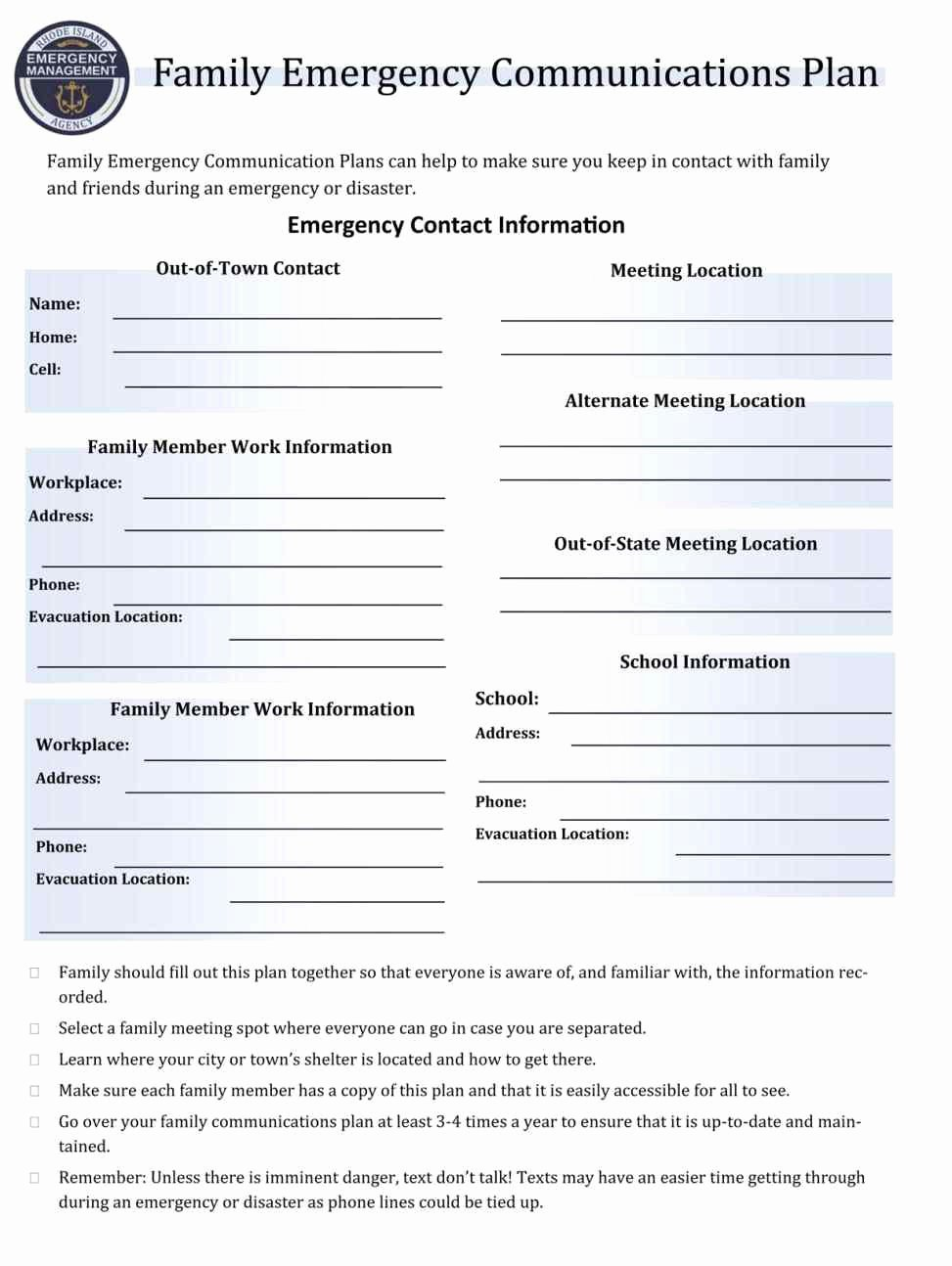 Emergency Communication Plan Template Awesome Church Emergency Preparedness Plan Template Template