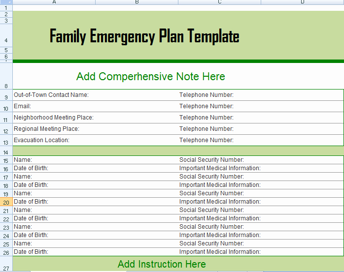 Emergency Communication Plan Template Inspirational Hurricane Evacuation Plan Louisiana Family Emergency Plan