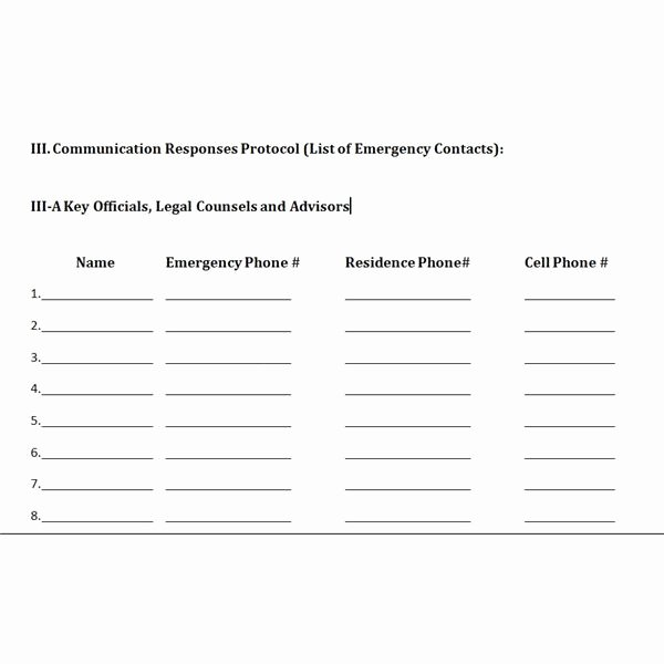 Emergency Communication Plan Template Luxury Free Downloadable Template A Plan for Crisis Management