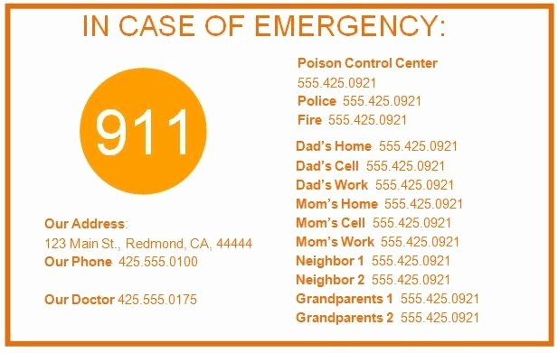 Emergency Contact Card Template Elegant Emergency Card Template Beepmunk