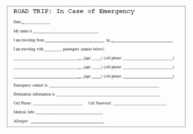 Emergency Contact Card Template Inspirational In Case Emergency Card Template Twpiratebay