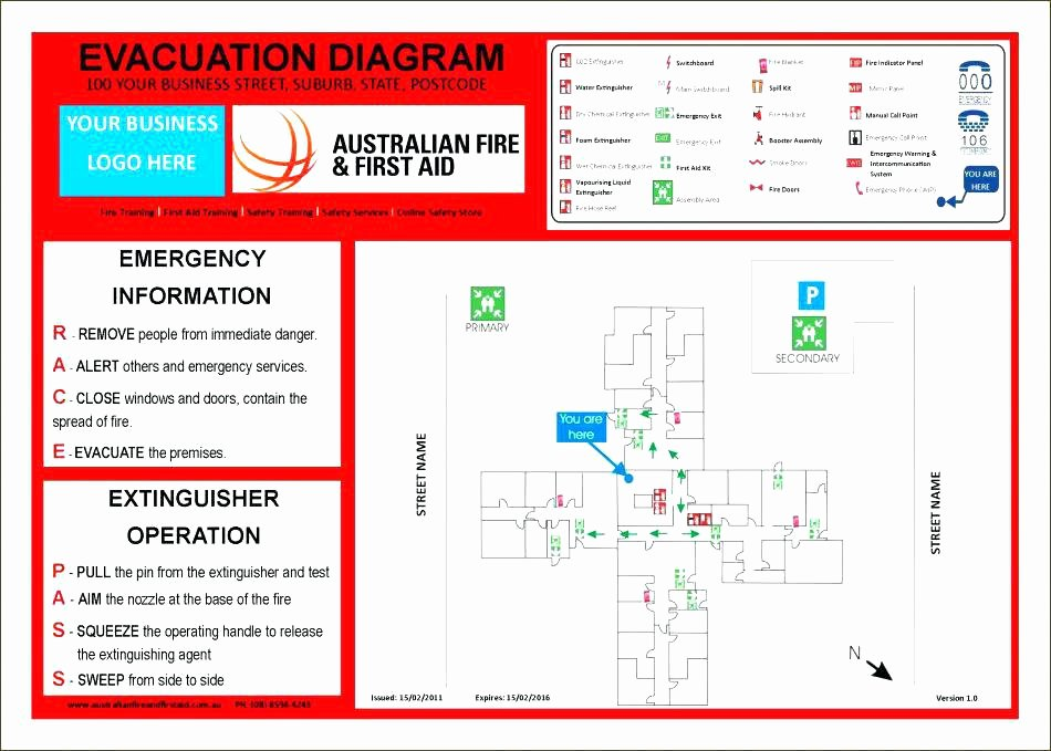 Emergency Evacuation Plan Template Awesome Emergency Fire Evacuation Example Response Action Safety