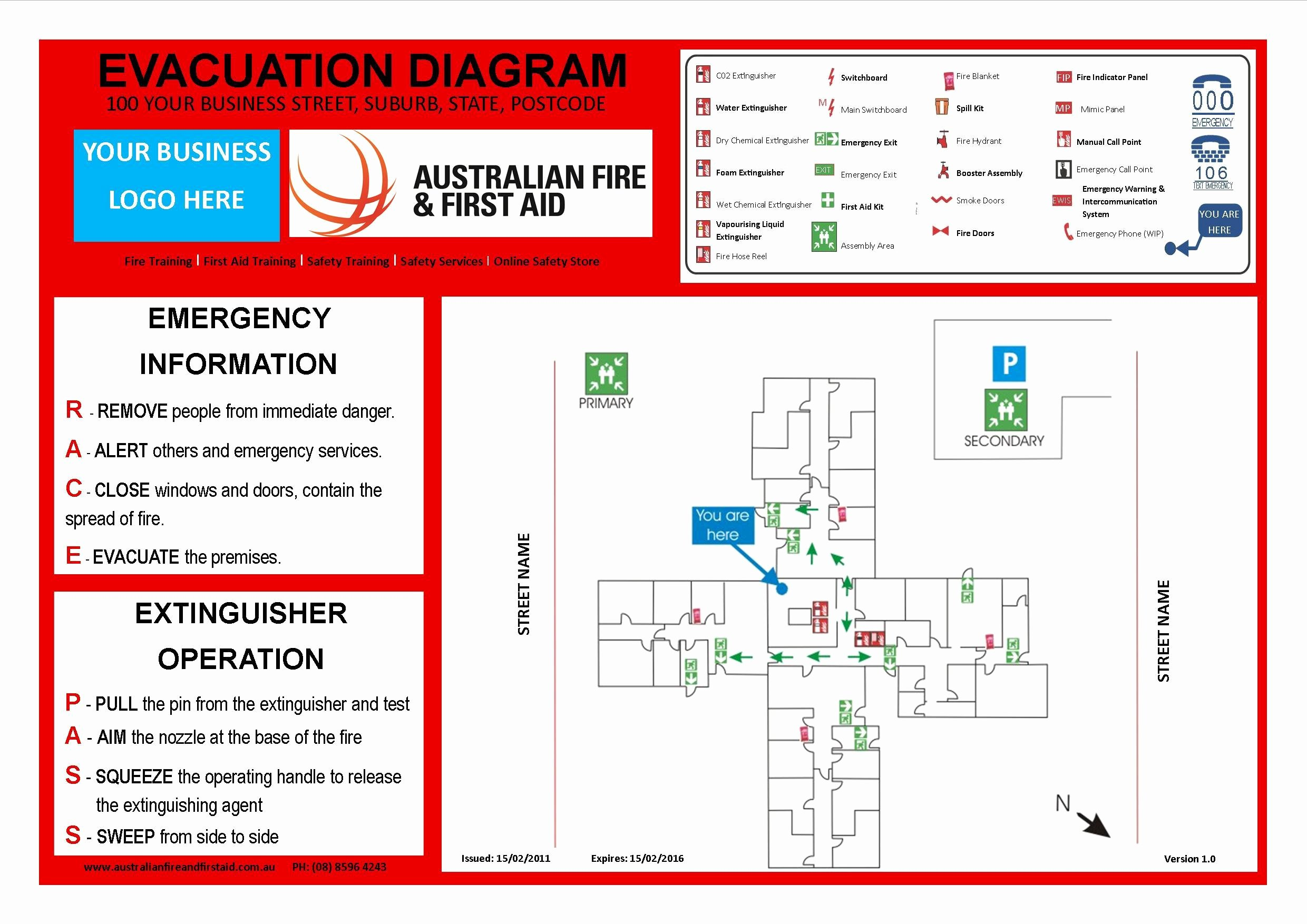Emergency Evacuation Plan Template Beautiful Emergency Evacuation Template Australia Templates