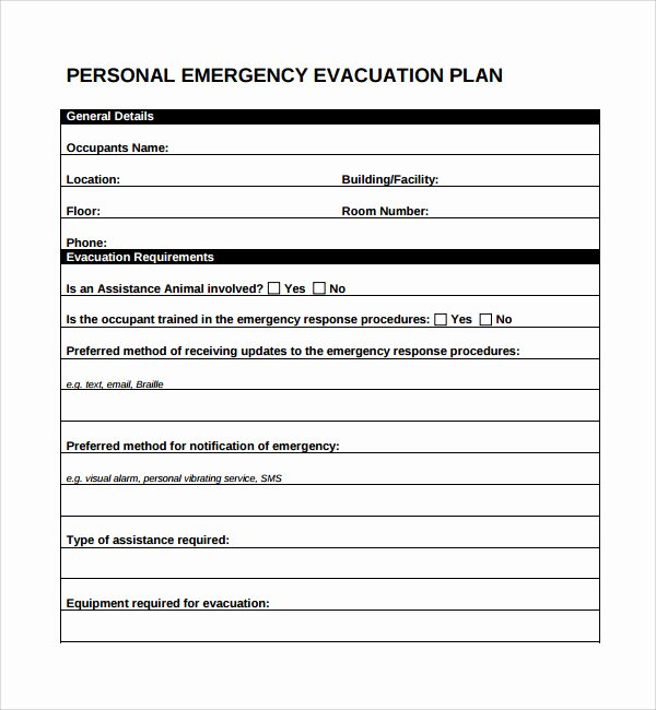 Emergency Evacuation Plan Template Lovely 10 Evacuation Plan Templates