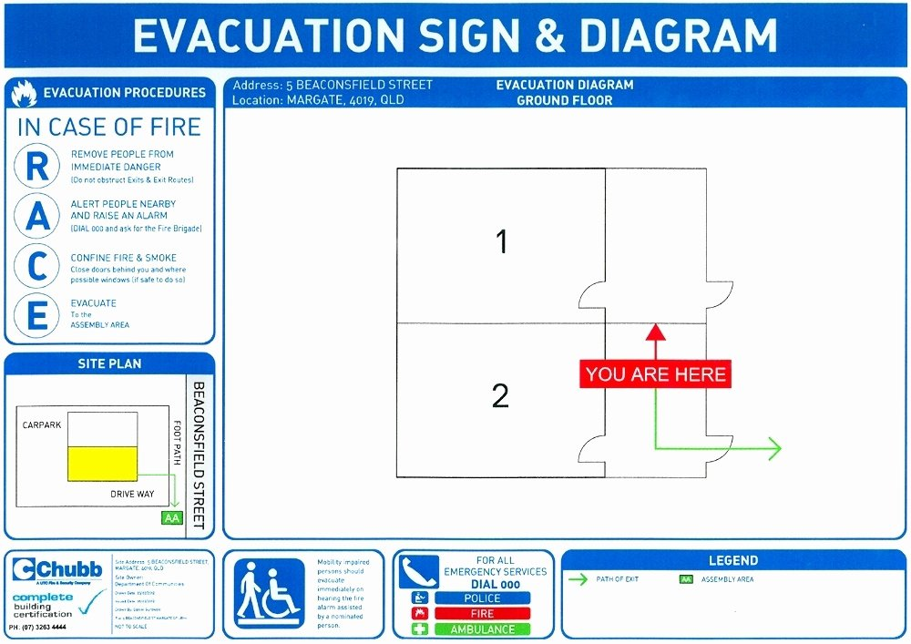 Emergency Evacuation Plan Template Luxury Fire and Emergency Evacuation