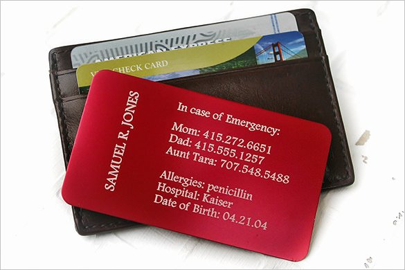 Emergency Information Card Template Beautiful 15 Contact Card Templates Psd Ai Eps