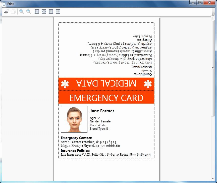 Emergency Information Card Template Best Of How to Print Emergency Card