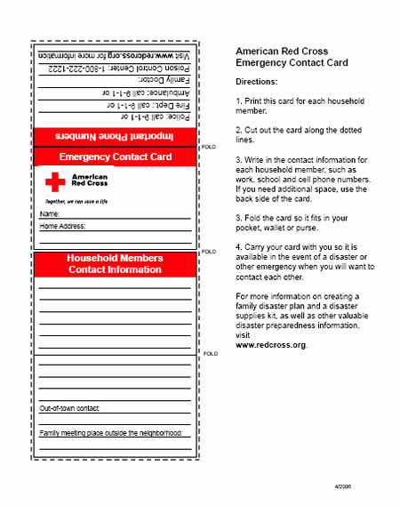 Emergency Information Card Template Elegant First Aid Badge Emergency Contact Card