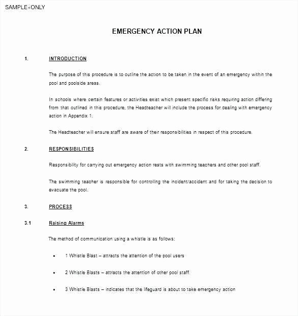Emergency Operations Plan Template Beautiful 29 Amazing Emergency Response Plan Template for Small