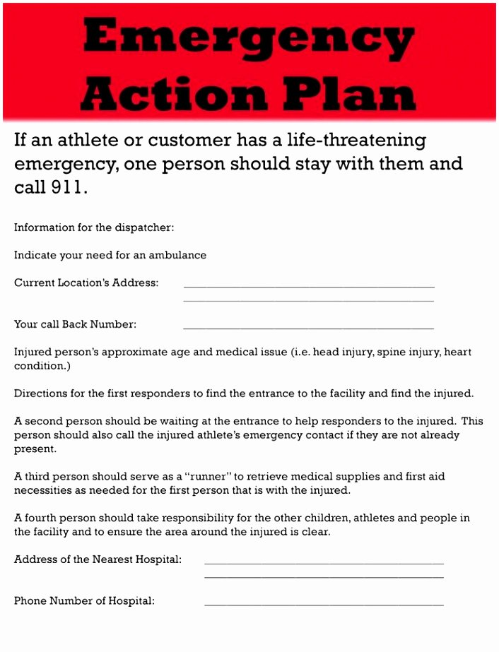 Emergency Operations Plan Template Best Of 5 Hospital Emergency Operations Plan Template Yriti