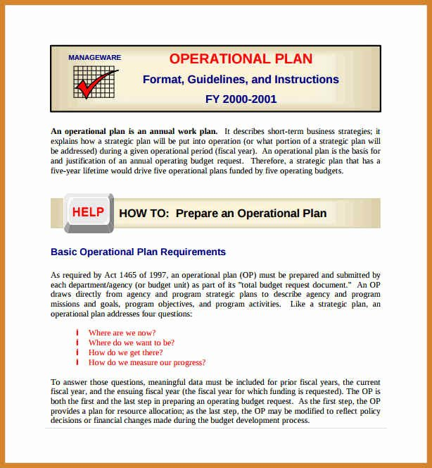 Emergency Operations Plan Template Best Of Business form Template Gallery