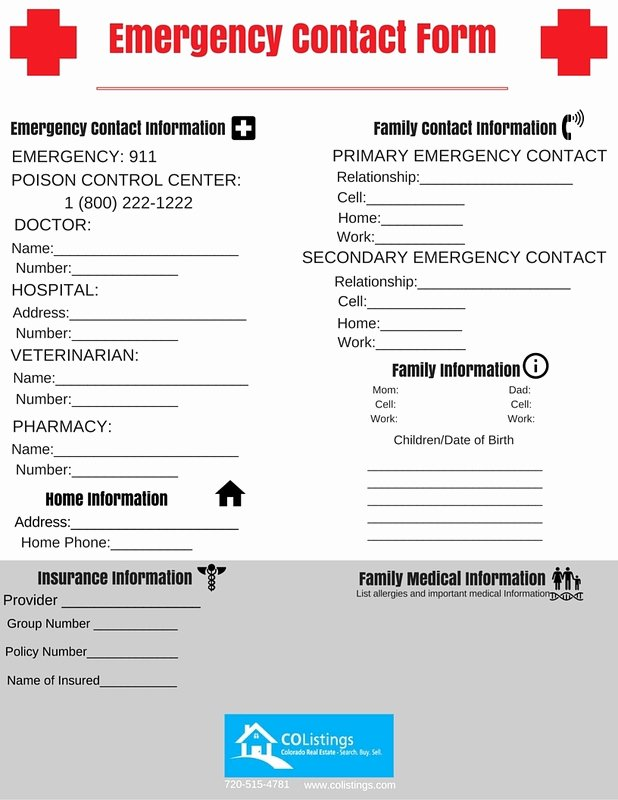 Emergency Phone Number Template Elegant Emergency Contact List