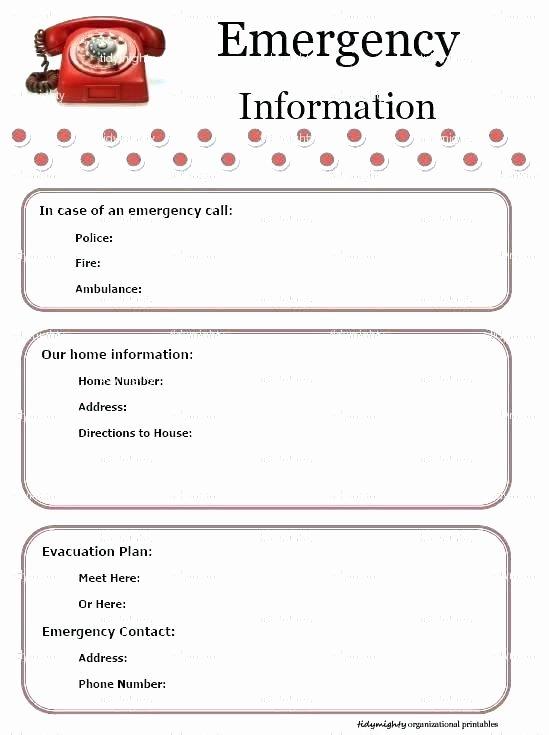 Emergency Phone Number Template Elegant Emergency E Numbers List Template Number Free Printable
