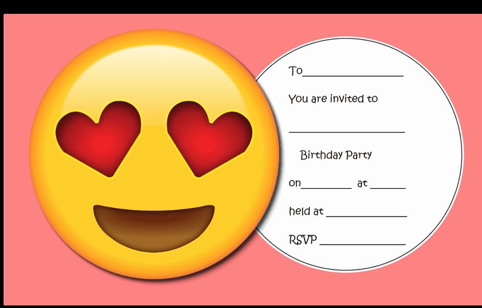 Emoji Birthday Invitation Template Beautiful Throw the Ultimate Emoji Party