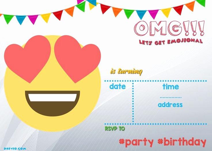 Emoji Birthday Invitation Template Best Of the 25 Best Printable Emojis Ideas On Pinterest