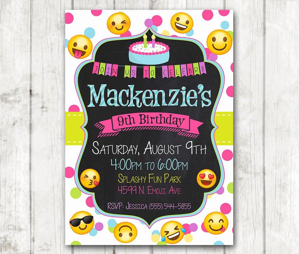 Emoji Birthday Invitation Template Elegant Printable Emoji Birthday Party Invitation Emoji Invitations