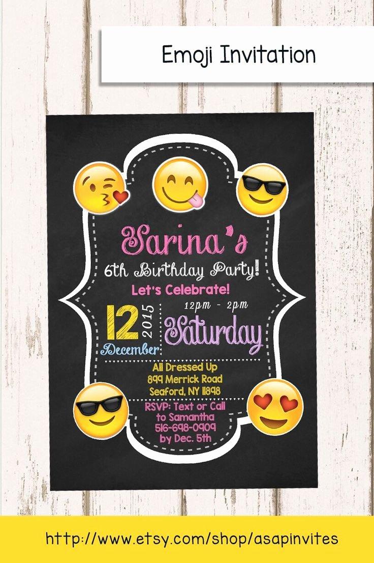 Emoji Birthday Invitation Template Fresh Emoji Birthday Invitation Emojis Emoji Invite