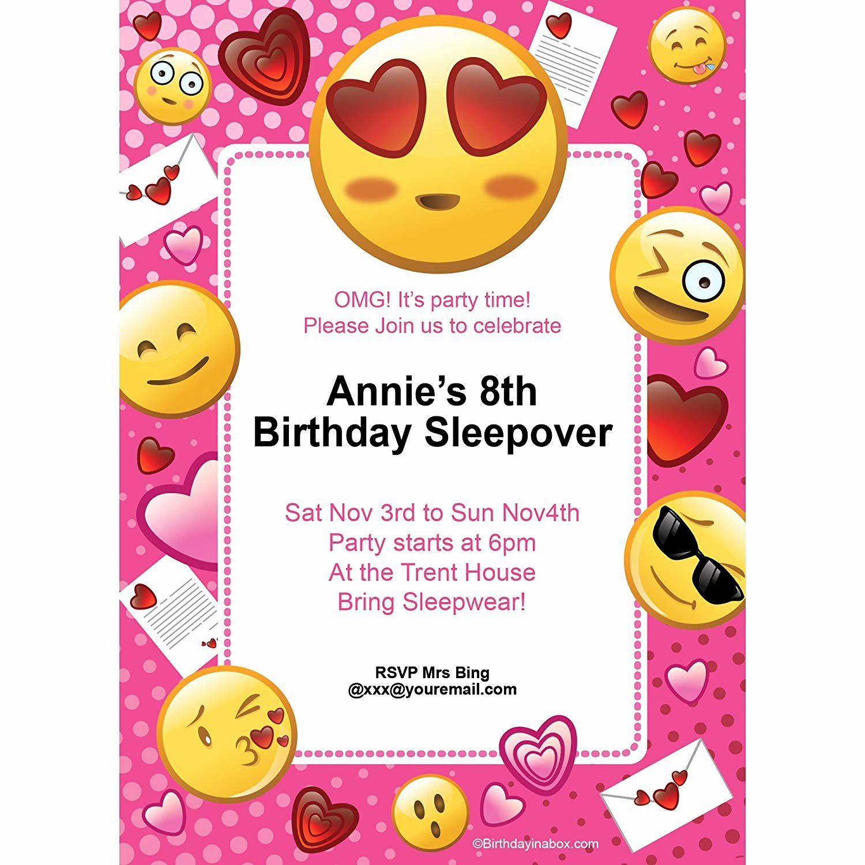 Emoji Birthday Invitation Template Lovely Emoji Birthday Invitations