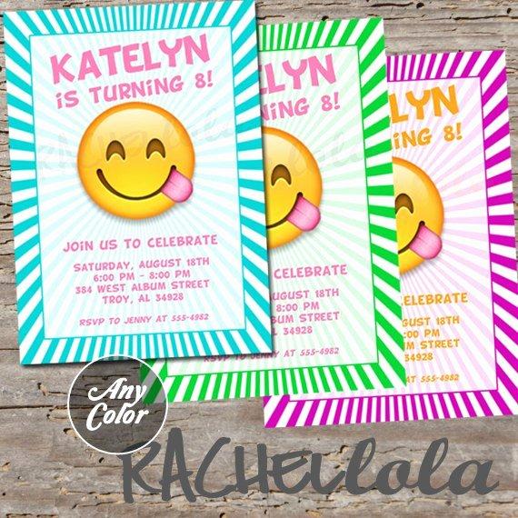 Emoji Birthday Invitation Template Luxury Emoji Invitation Printable Digital Print