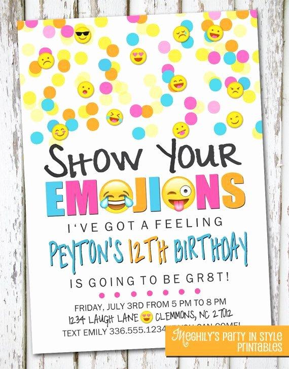Emoji Invitation Template Free Luxury Emoji Invitation Crafty Invitations Pinterest