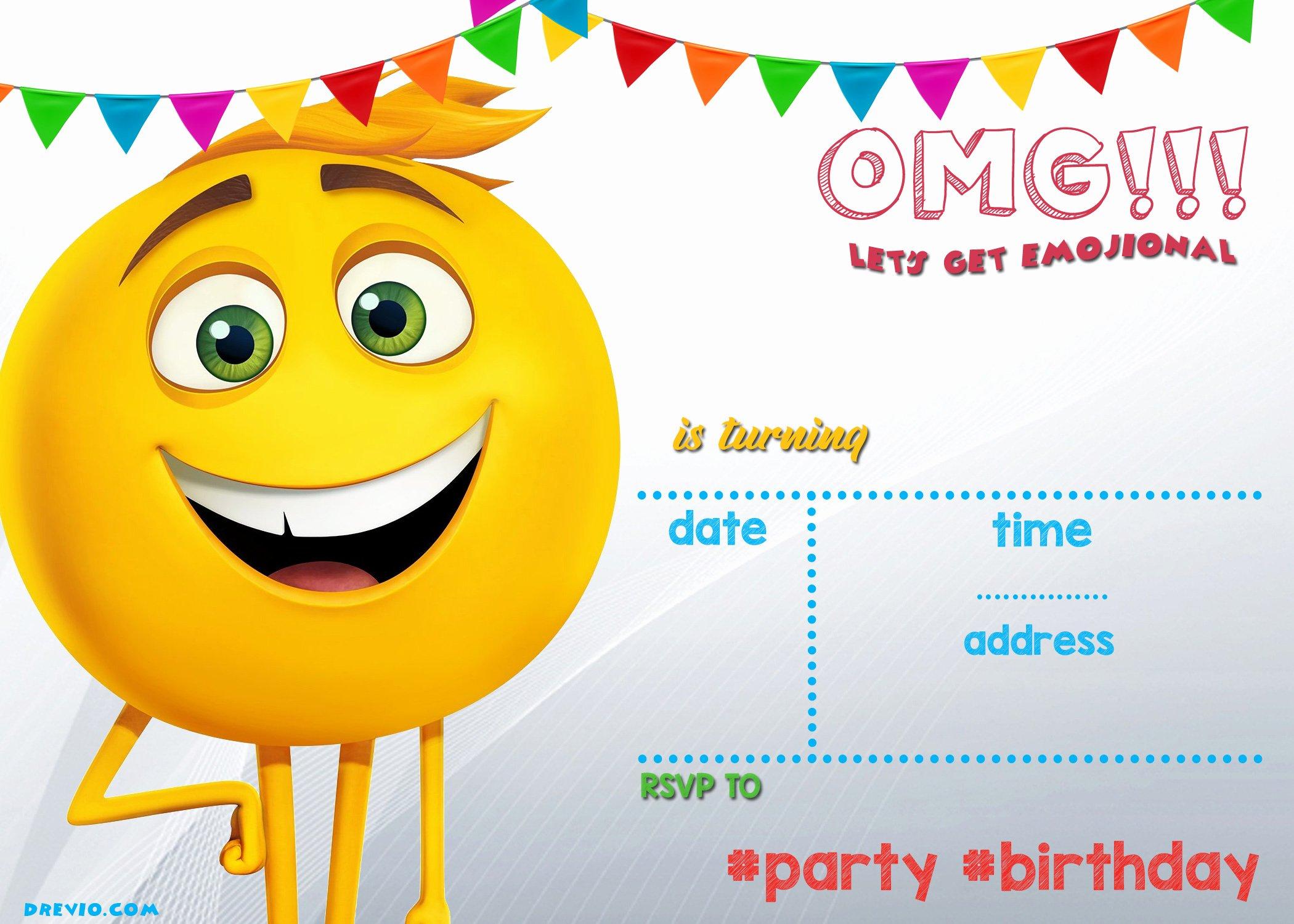 Emoji Invitation Template Free New Free Printable Emoji Invitation Template