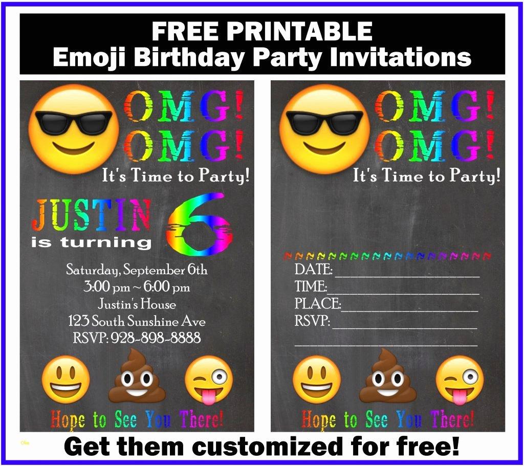 Emoji Invitation Template Free Unique Emoji Invitation Template New Free Customized Emoji