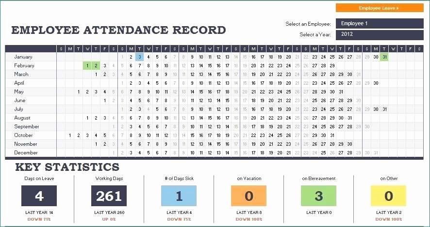 Employee attendance Record Template Beautiful Employee attendance Records Luxurious Employee attendance