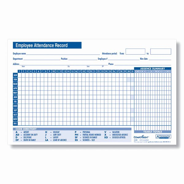 Employee attendance Record Template New 24 Best Samples Of attendance Sheet for Employees Thogati