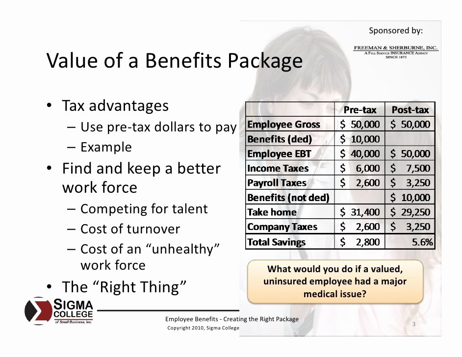 Employee Benefits Package Template New Employee Benefits Creating the Right Package