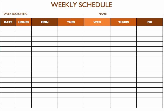 Employee Break Schedule Template Awesome Free Work Schedule Templates for Word and Excel