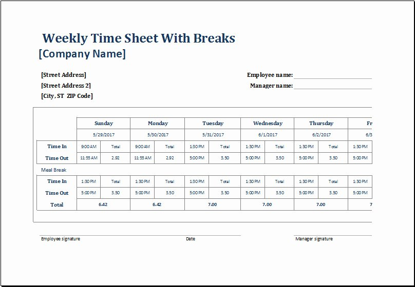 Employee Break Schedule Template Best Of Employee Lunch Break Schedule Template Templates
