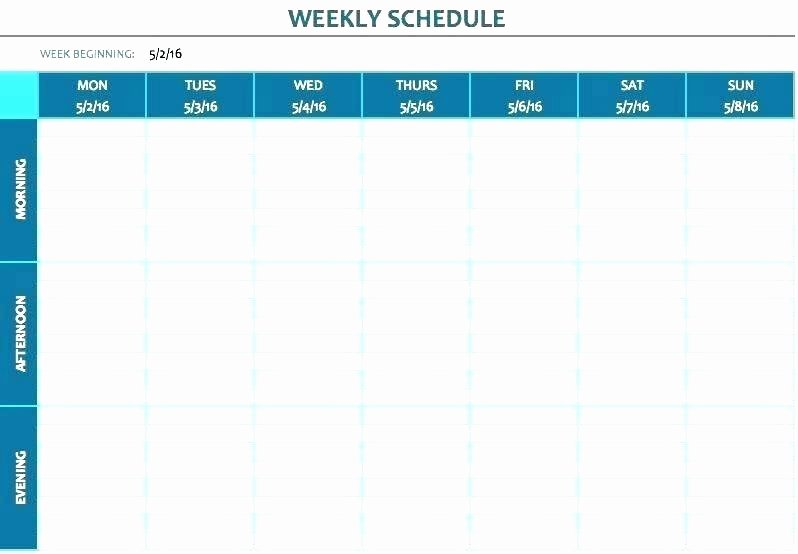 Employee Break Schedule Template Lovely Planning Excel Template Full Size Medium