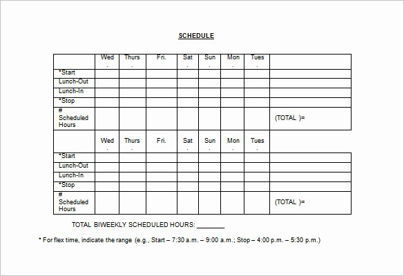 Employee Break Schedule Template Luxury Employee Lunch Schedule Template Templates Resume