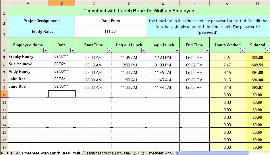 Employee Break Schedule Template New Driver Employee Break and Lunch Schedule