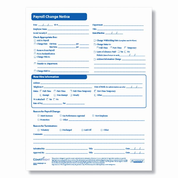 Employee Change form Template Best Of Payroll Change form for Documenting Employee Payroll Changes