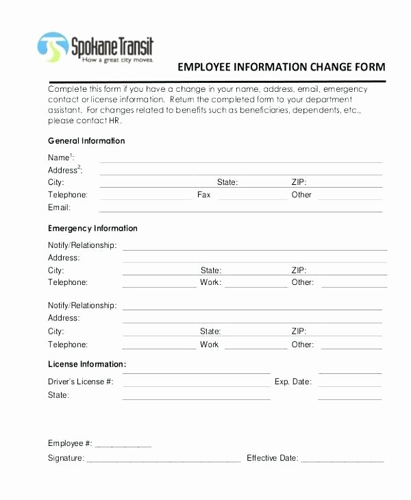 Employee Change form Template Lovely Web form Templates Customize Use now Employee Information