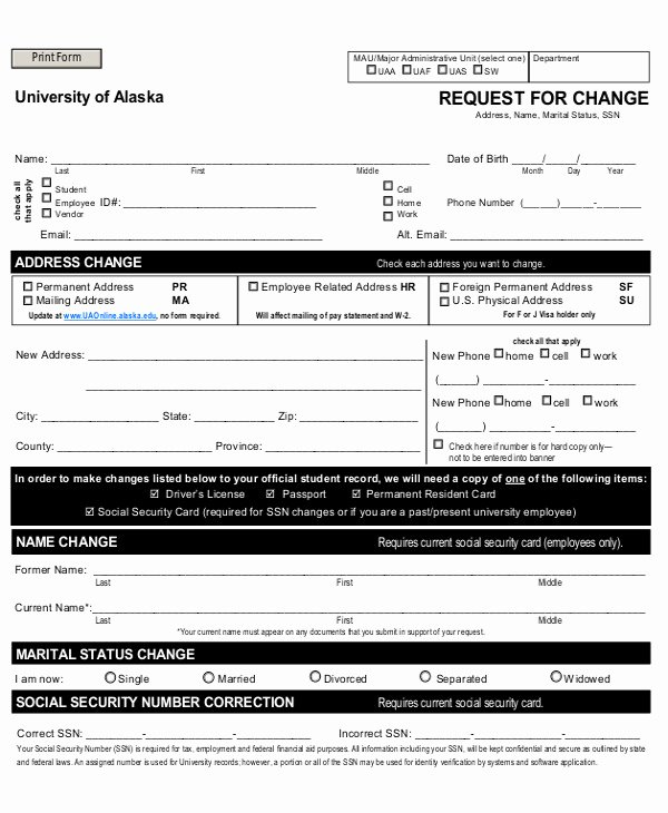 Employee Change form Template Luxury 3 Employee Record Change forms Templates Pdf