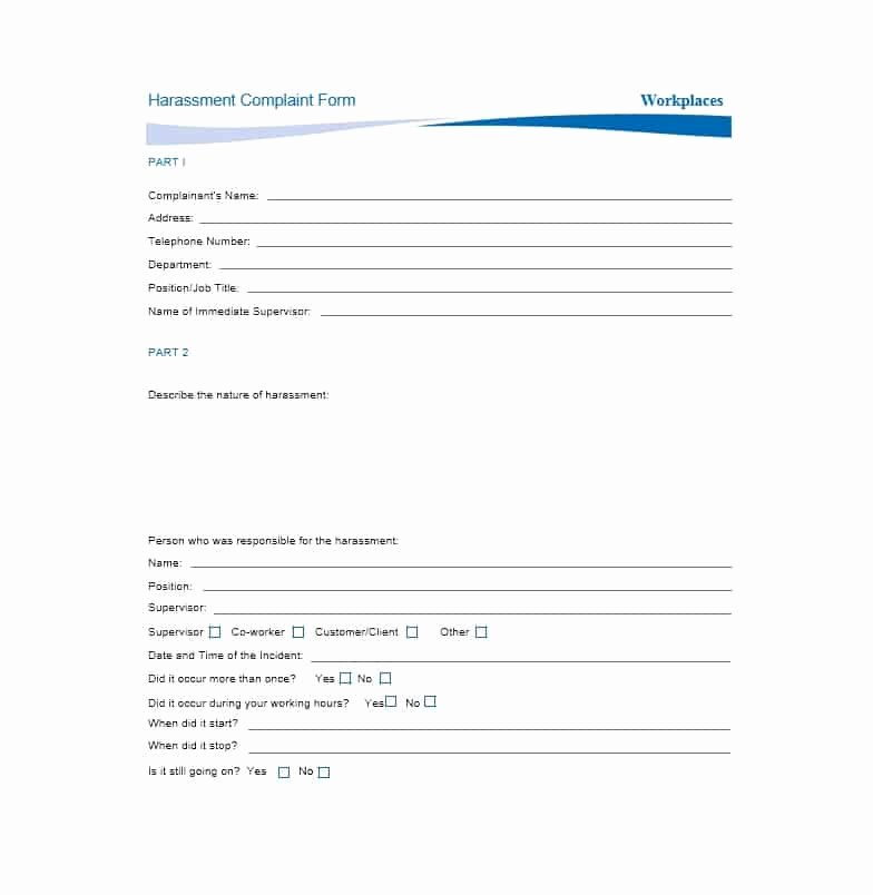 Employee Complaint form Template New 49 Employee Plaint form & Letter Templates Template