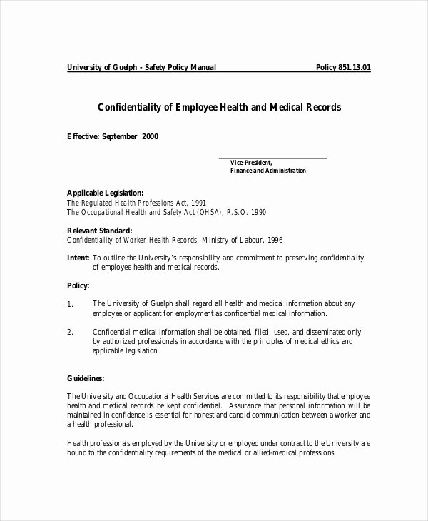 Employee Confidentiality Agreement Template Luxury 9 Medical Confidentiality Agreements Doc Pdf