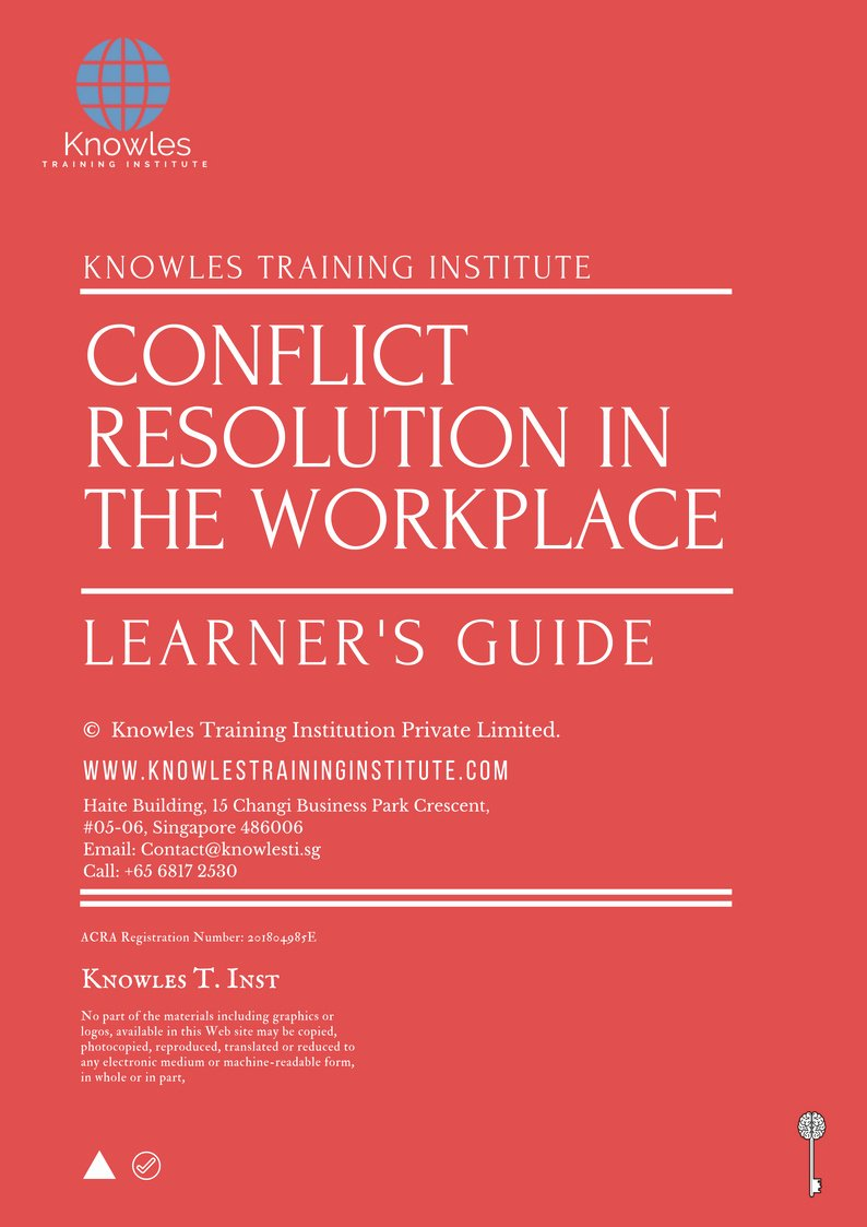 Employee Conflict Resolution Template Awesome Conflict Resolution In the Workplace Training Course In
