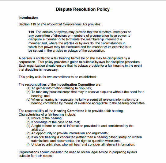 Employee Conflict Resolution Template Beautiful 10 Dispute Resolution Policy Templates Pdf Doc