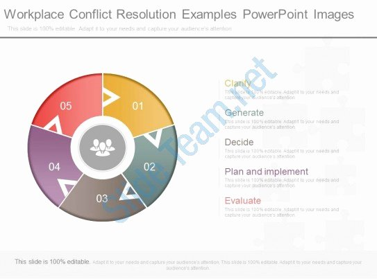 Employee Conflict Resolution Template Elegant Workplace Conflict Resolution Examples Powerpoint