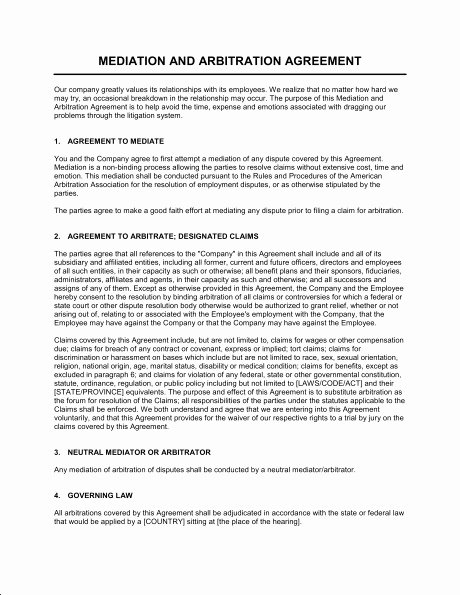 Employee Conflict Resolution Template Luxury Employment Arbitration Agreement Template Templates