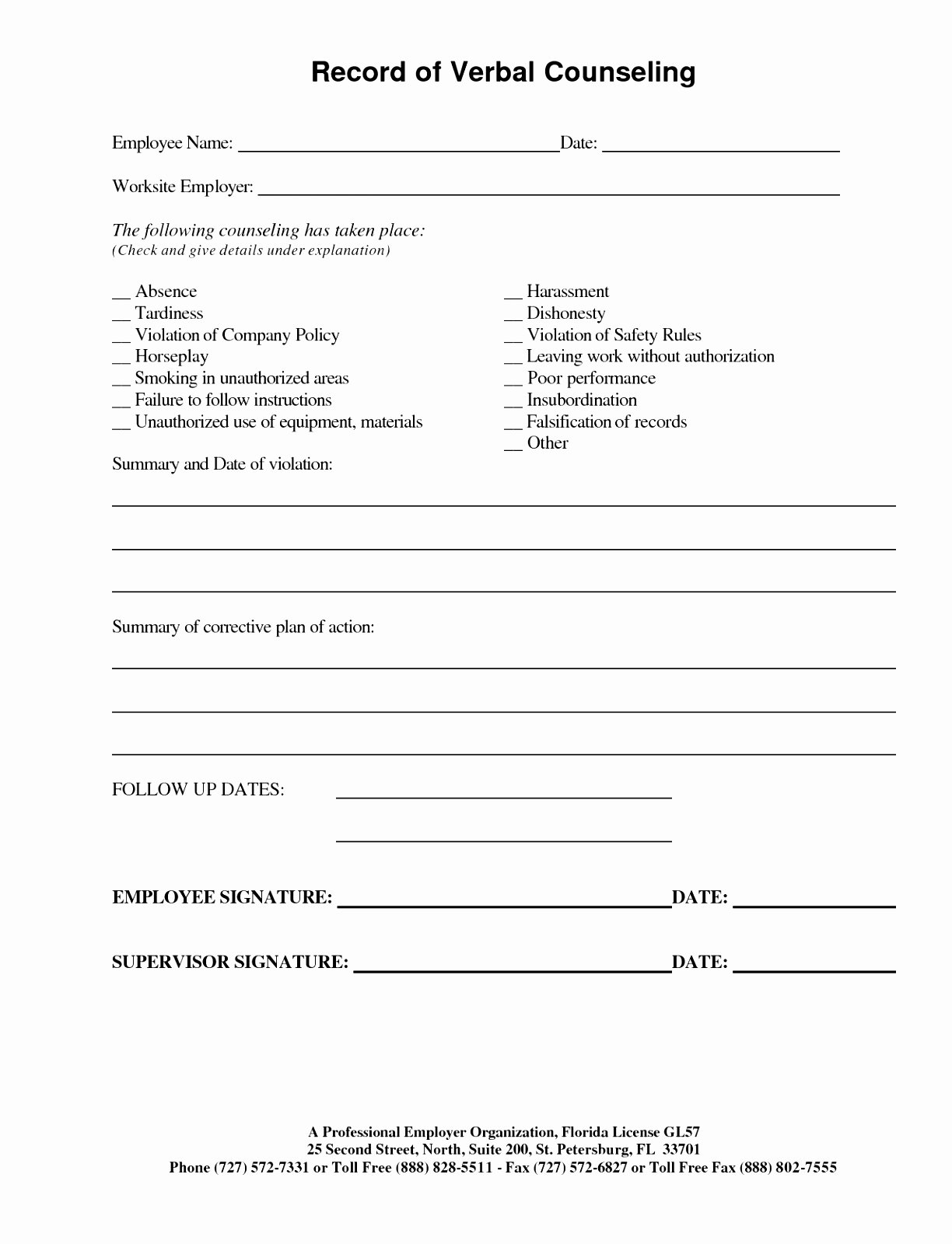 Employee Discipline form Template Lovely 12 Employee Discipline form Template Free Raytc